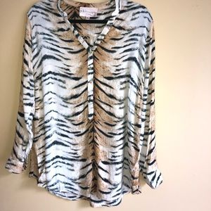 Philosophy Tiger Print Popover Top